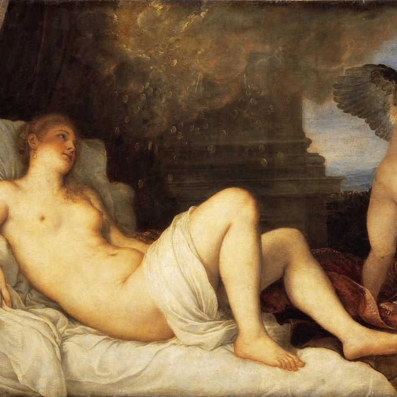 Cupid alongside Danaë.
